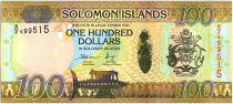 Solomon Islands 100 Dollars Arms - Coconuts - 2015