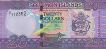 Solomon Islands 20 Dollars Arms, flag - Musicians - 2017