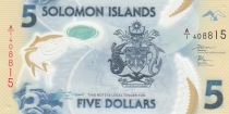 Solomon Islands 5 Dollars - Polymer - 2019 UNC