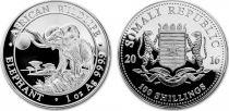 Somalia 100 Shillings Elephants - Silver Oz 2016