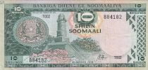 Somalie 10 Shillings 1978 - Phare, Bateaux