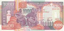 Somalie 1000 Shillings 1990 - Femmes, port, ville