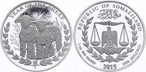 Somalie 1000 Shillings Moutons - Once Argent 2015