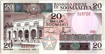 Somalie 20 Shillings - Banque central - Vaches -1989