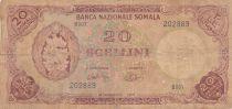 Somalie 20 Shillings 1971 - Bananes, imm. Bq. centrale