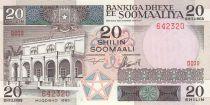 Somalie 20 Shillings 1983 - Bâtiment, vaches