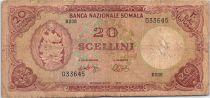 Somalie 20 Shillings Bananes, imm. Bq. centrale