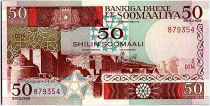 Somalie 50 Shillings - Ville de Walled - Animaux -1987