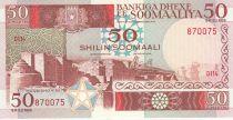 Somalie 50 Shillings 1987 - Ville, dromadaires