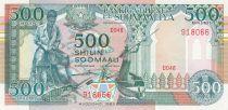 Somalie 500 Shillings 1989 - Pêcheur, langouste, mosquée