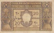 Somalie Italienne 20 Somali - 1950 Série A 004 - P.14 - TB