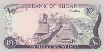 Soudan 10 Pounds 1980 - Bâtiment, port, navires, avion, train