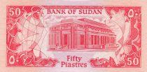 Soudan 50 Piastres Fleurs - Banque Centrale - 1987