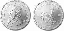 South Africa 1 Kruggerand Paul Kruger - Springbok - Silver - 2017