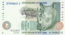 South Africa 10 Rand 1993 - Rhinos, Sheep
