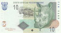 South Africa 10 Rand White rhinoceros - 2009