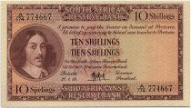 South Africa 10 Shillings 1959 - Jan Van Riebeeck - Arms