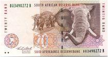 South Africa 20 Rand 1993 - Elephants - Mine
