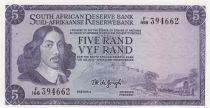 South Africa 5 Rand 1967-74 - Jan Van Riebeeck - Mine