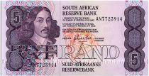 South Africa 5 Rand 1990-94 - Jan Van Riebeeck - Mine