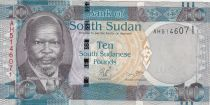 South Sudan 10 Dollars John Garang de Mabior, buffalos - 2011