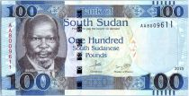 South Sudan 100 Pounds, Dr John Garang de Mabior - Lion - 2015