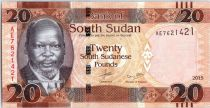 South Sudan 20 Pounds, Dr John Garang de Mabior - Antelopes - 2015