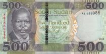 South Sudan 500 Pounds, Dr John Garang de Mabior - 2018