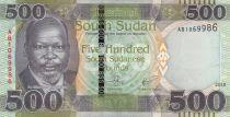 South Sudan 500 Pounds, Dr John Garang de Mabior - 2018