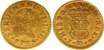 Spagna 1/2 Escudo Ferdinand VI - Arms 1759 J M Madrid - Gold