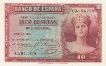 Spagna 10 Pesetas 1935 - Woman\'s portrait