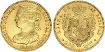 Spagna 100 Reales Isabel II - Arms - 1864 - Madrid - Gold
