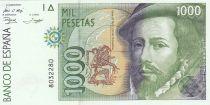 Spagna 1000 Pesetas - H. Cortès - F. Pizzaro 1992 - without serial