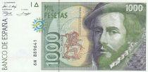 Spagna 1000 Pesetas - H. Cortès - F. Pizzaro 1992