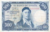 Spagna 500 Pesetas - Ignacio Zuloaga - 1954
