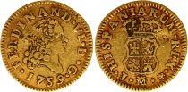 Spain 1/2 Escudo Ferdinand VI - Arms 1759 J M Madrid - Gold