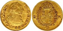 Spain 1/2 Escudos Charles III - Arms 1788 M Madrid - Gold