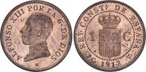 Spain 1 centimo - Alfonso XIII  - 1912 - AU