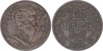 Spain 1 centimo - Alfonso XIII  -1906