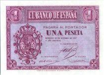 Spain 1 Peseta - Arms - Burgos - 1937