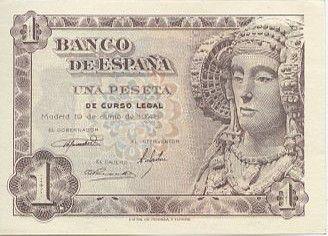 Spain 1 Peseta Dame of Elche