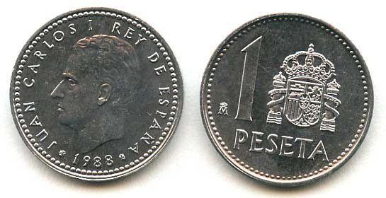 Spain 1 Peseta Juan Carlos I