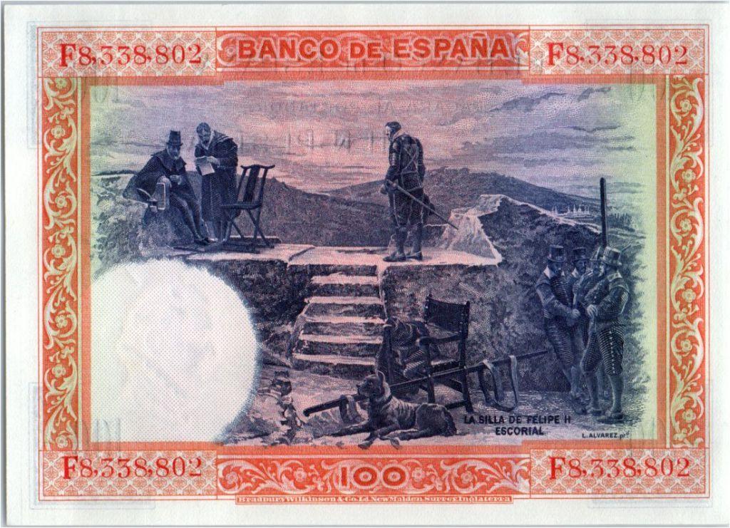 Spain 100 Pesetas - Felipe II  - 1925