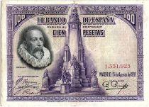 Spain 100 Pesetas M. De Cervantes - 1928 - without serial - VF - P.76