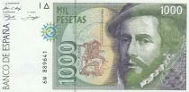 Spain 1000 Pesetas - H. Cortès - F. Pizzaro 1992
