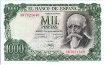 Spain 1000 Pesetas - José Echegaray - Madrid - 1971