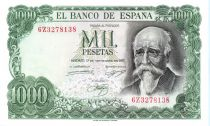 Spain 1000 Pesetas José Echegaray - Madrid - 1971