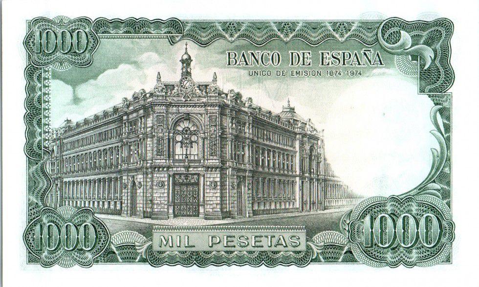 Spain 1000 Pesetas José Echegaray - Madrid - 1971