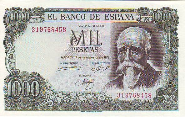 Spain 1000 Pesetas José Echegaray - Madrid