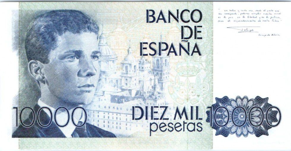 Spain 10000 Pesetas Juan Carlos - Prince Felipe